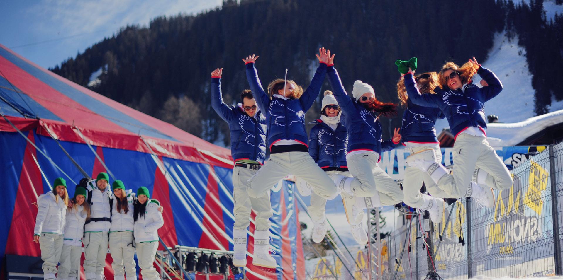 Winter Erlebnismarketing Snow Jam Festival Davos durchgeführt von kreis3production GmbH