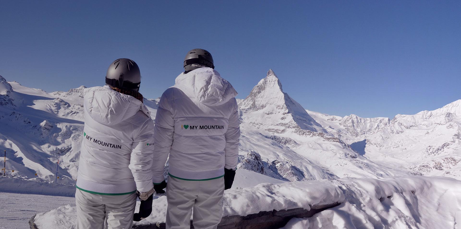 Matterhorn Promotion Hostessen Promotionsmitarbeiter von k3p vor dem Matterhorn